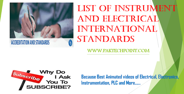 instrument and electrical international standards