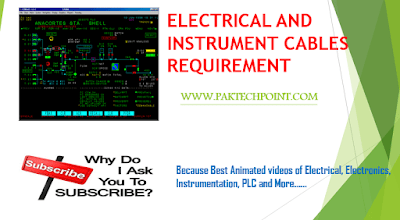 ELECTRICAL AND INSTRUMENT CABLES REQUIREMENT