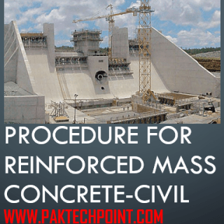 PROCEDURE FOR REINFORCED MASS CONCRETE