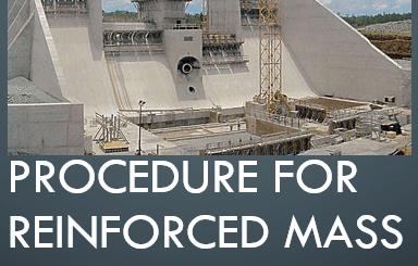 PROCEDURE FOR REINFORCED MASS CONCRETE