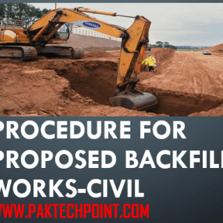 PROCEDURE FOR PROPOSED BACKFILL WORKS