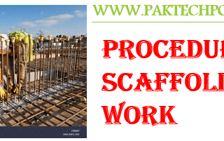 Procedure for scaffolding work