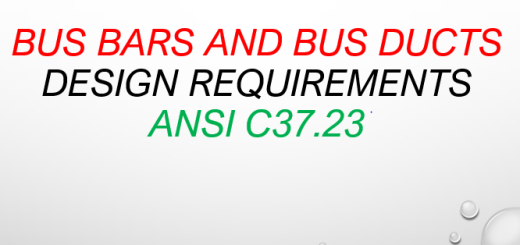Bus Bars and Bus Ducts Design Requirements, ANSI C37.23