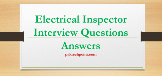 Electrical Inspector Interview Questions Answers