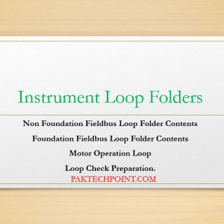 Foundation Fieldbus Loop Folder Contents, Motor Operation Loop,Loop Check Preparation.
