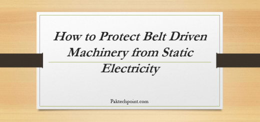 Main keywords for this article are Accumulation of Static Electricity on Belts, How to Protect Belt Driven Machinery from Static Electricity.