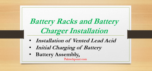 Battery Charger Installation, Initial Charging of Battery, Installation of Vented Lead Acid