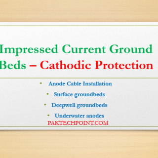 Surface groundbeds, Deepwell groundbeds, Underwater anodes
