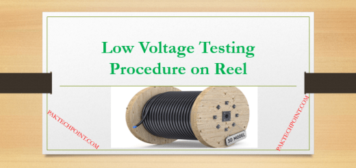 Low Voltage Testing Procedure on Reel
