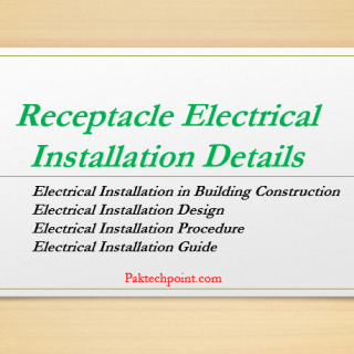 Receptacle Electrical Installation Details