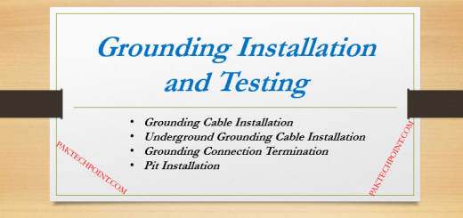 Grounding Connection Termination,Pit Installation