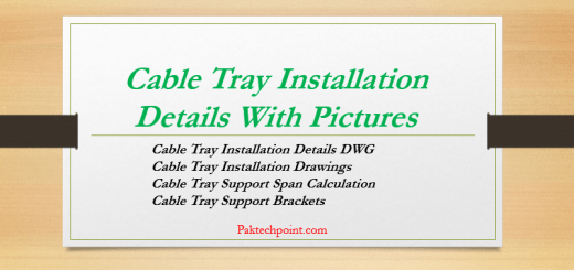 Cable Tray Installation Drawings, Cable Tray Support Span Calculation