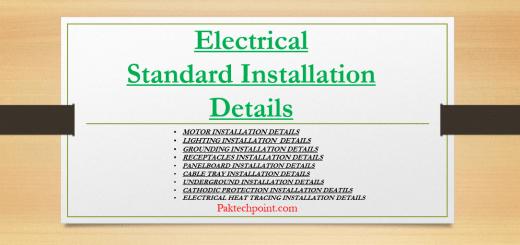 Electrical Standard Installation Details