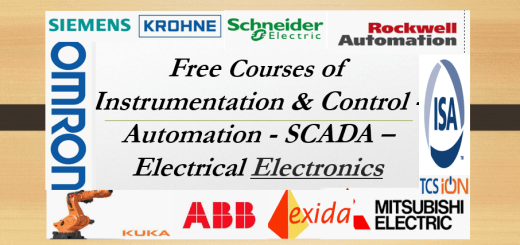 Free Courses of Instrumentation & Control - Automation - SCADA - Electrical - Electronics   or Free Certifications