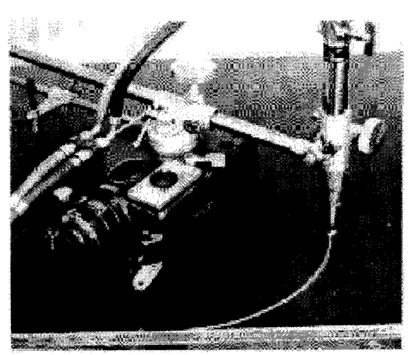 Figure 2 - Portable Machine with Attachment for Making Radius Cut
