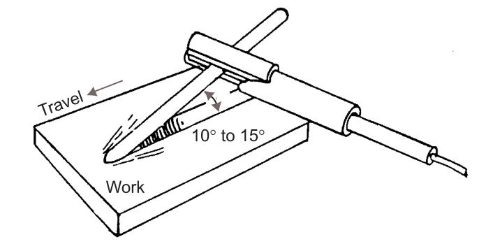 Figure 5 - Shallow Angle Air Carbon Arc Gouging
