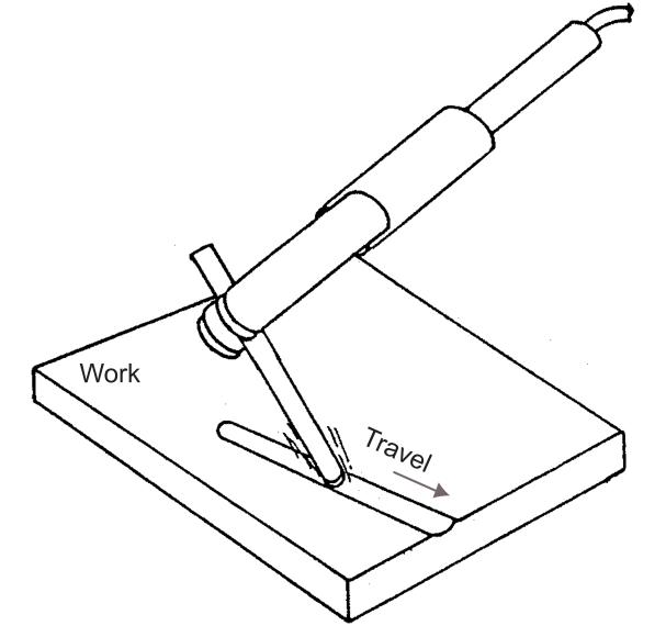 Figure 9 - Air Carbon Arc Gouging with Flat Electrode