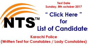 karachi police constables nts-8-oct-17-test