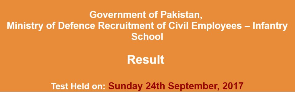 ministry of defence nts-result