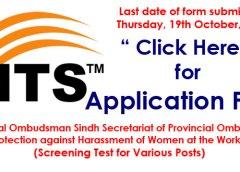 Sindh Secretariat of Provincial Ombudsman (Screening Test NTS)