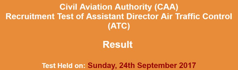 caa atc 24-sep-2017-result