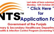 Govt of the Punjab Primary & Secondary Healthcare Department (NTS Project)