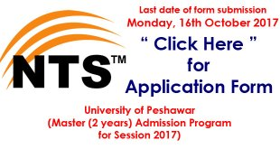 university of peshawar admission nts test
