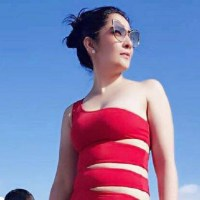 Sanjay Dutt's wife Maanayata is ready for the water in her stunning red swimsuit. See Pics