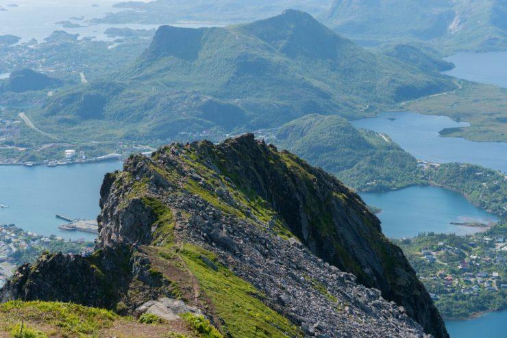 Vuoristomaisema, Fløya, Lofootit, Norja