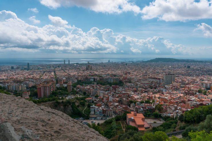 Pitkä viikonloppu Barcelonassa, jonka aikana ihailimme kaupunkia Bunkers del Carmel näköalapaikalta