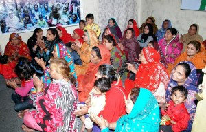 57 women took part in Shahid Rehmat's project in Lahore and Faisalabad