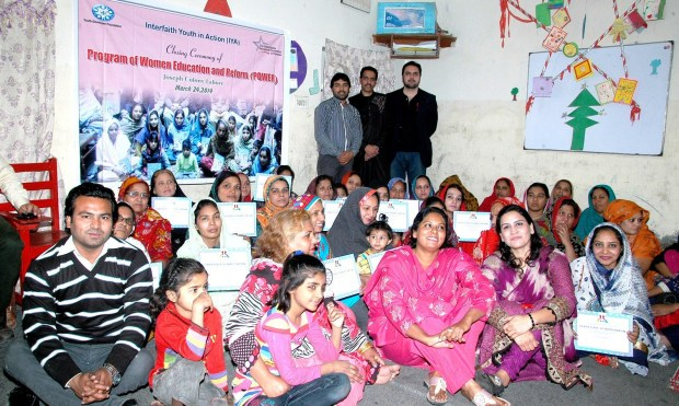 Participants of the Women Education and Reforms (POWER) project with Alumnus Shahid Rehmat