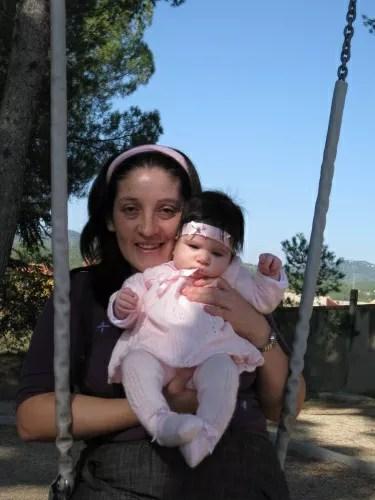 En el parque con mamá