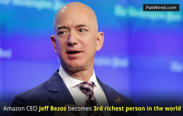 Amazon CEO Jeff Bezos becomes third richest person in the ...