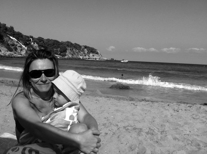 Yolanda con su hijo Gonzalo