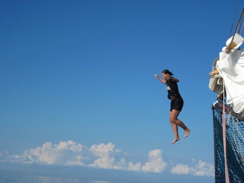 Monika skacze dowody znoku bukszprytu
