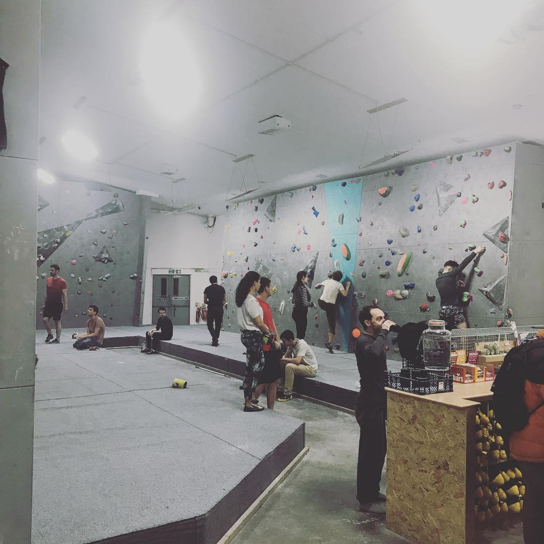 Getting up (and down again) at @hw_boulder. My forearms are like bricks.