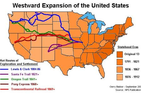 Map of usa oregon trail full hd maps locations another world postcards around the world map of the oregon trail usa map of the oregon trail usa oregon trail map the wagon train of pinterest the invasion of first publicscrutiny Image collections