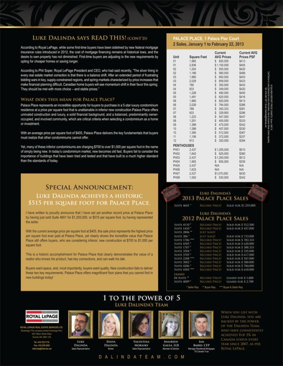 The Dalinda Report February 2013