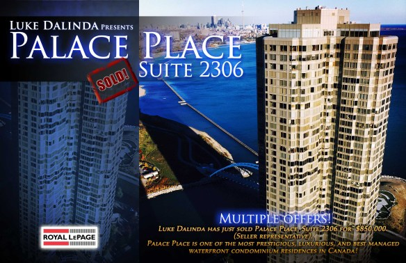 Palace Place Suite 2306 Sold by Luke Dalinda