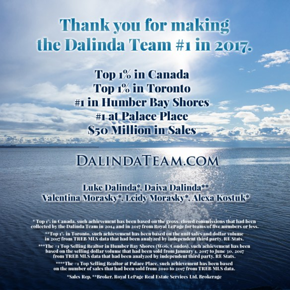 Thank you for making the Dalinda Team #1 in 2017