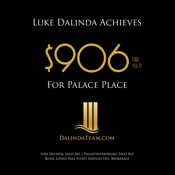 Luke Dalinda achieves $906 per sq. ft