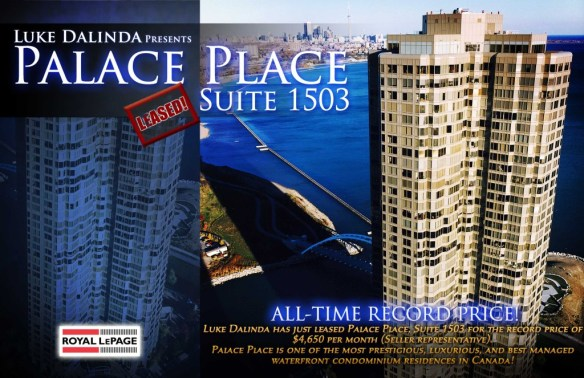 Palace Place Sold Card - PP 1503Leased