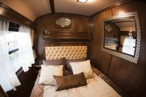 Luxurious modern cruise train has option for double beds. Only 10 rooms with double beds
