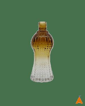 Frasco de Vidro Cintura Degradê Marrom e Transparente - 100 ml