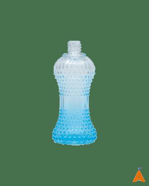 Frasco de Vidro Cintura Degradê Transparente e Azul - 100 ml