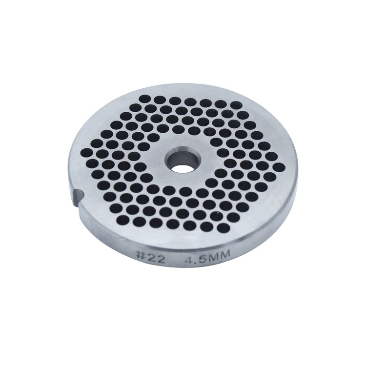 Paladin Equipment's #22 meat grinder includes a 4.5mm grinding plate.