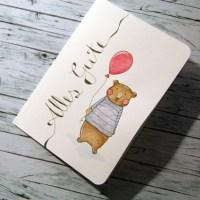Aquarellige Geburtstagskarte und mehr...
