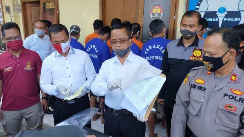 Polres Blora Polda Jawa Tengah, Amankan 12 Tersangka Judi.