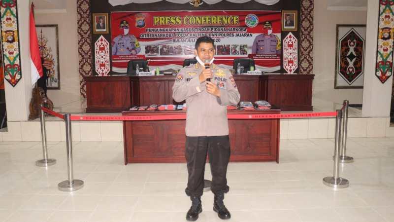 Pertama Di Indonesia, Polda Kalteng Gelar Konferensi Pers Secara Virtual